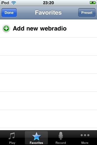 Adding new web radio